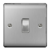 BG Electrical BG Electrical BG Nexus Metal Brushed Steel