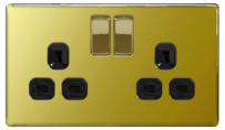 BG Electrical BG Electrical BG Nexus Screwless Polished Brass
