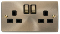 Scolmore Click Deco Antique Brass Switches & Sockets