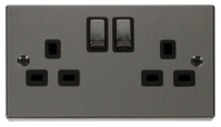 Click Deco Black Nickel Switches & Sockets