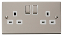 Click Deco Pearl Nickel Switches & Sockets