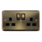 Click Deco Plus Antique Brass Switches & Sockets