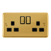 Scolmore Click Deco Plus Polished Brass Switches & Sockets