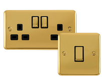 Scolmore Click Deco Plus Polished Brass