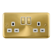 Scolmore Click Deco Plus Satin Brass Switches & Sockets