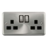 Scolmore Click Deco Plus Satin Chrome Switches & Sockets