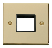 Click Deco Polished Brass Mini Grid Switches