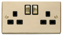 Click Deco Polished Brass Switches & Sockets