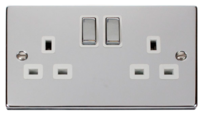 Scolmore Click Deco Polished Chrome Switches & Sockets
