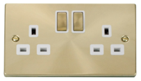 Scolmore Click Deco Satin Brass Switches & Sockets