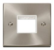 Click Deco Satin Chrome Mini Grid Switches