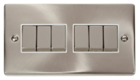 Scolmore Click Deco Satin Chrome Switches & Sockets