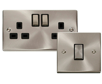Scolmore Click Deco Satin Chrome