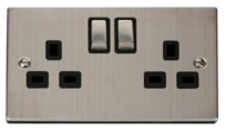 Scolmore Click Deco Stainless Steel Switches & Sockets