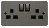 Click Define Black Nickel Switches & Sockets