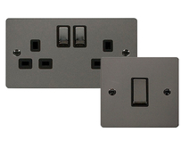 Scolmore Click Define Flat Plate Black Nickel