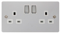 Click Define Polished Chrome Switches & Sockets