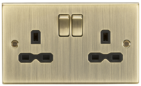 Knightsbridge Antique Brass Raised Plate Switches & Sockets
