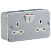 Knightsbridge Metal Clad Switches & Sockets