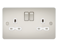 Knightsbridge Pearl Flat Plate Switches & Sockets
