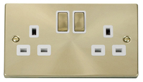 Scolmore Raised Plate Brass Switches & Sockets