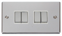 Scolmore Raised Plate Chrome Switches & Sockets