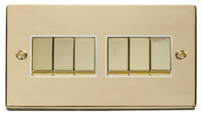 Raised Plate Polished Brass Switches & Sockets