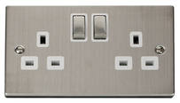 Scolmore Raised Plate Steel Switches & Sockets