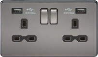 Scolmore Screwless Black Nickel Switches & Sockets